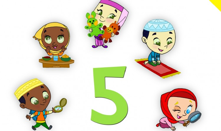 LM Story Book 1- Five Little Muslims- frontpage-cropped